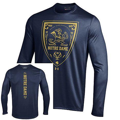 Under Armour Notre Dame Fighting Irish Hoops Basketball Tech Long Sleeve T-Shirt   University Of Notre Dame