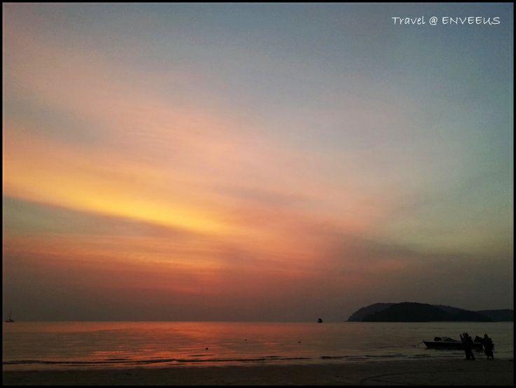 Sunset at Pantai Cenang (Cenang Beach), Langkawi, Malaysia.