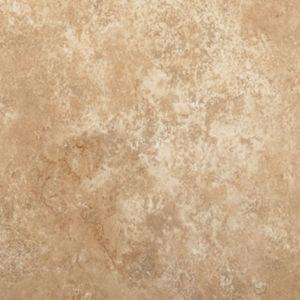 "Tarkett Premiere GroutLess Tile Durango Rosa Champagne Celebrations- 12""x12"" Vinyl floors, bathroom floors, laundry room floor, utility room, basement floors, flooring ideas, lake house, beach house, vinyl tile, stone look floors, waterproof floors, dog friendly, kid friendly, cream tile, tan tile"