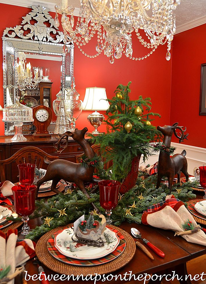 Best BNOTP Christmas Table Settings Tablescapes Images On - Christmas tartan table decoration