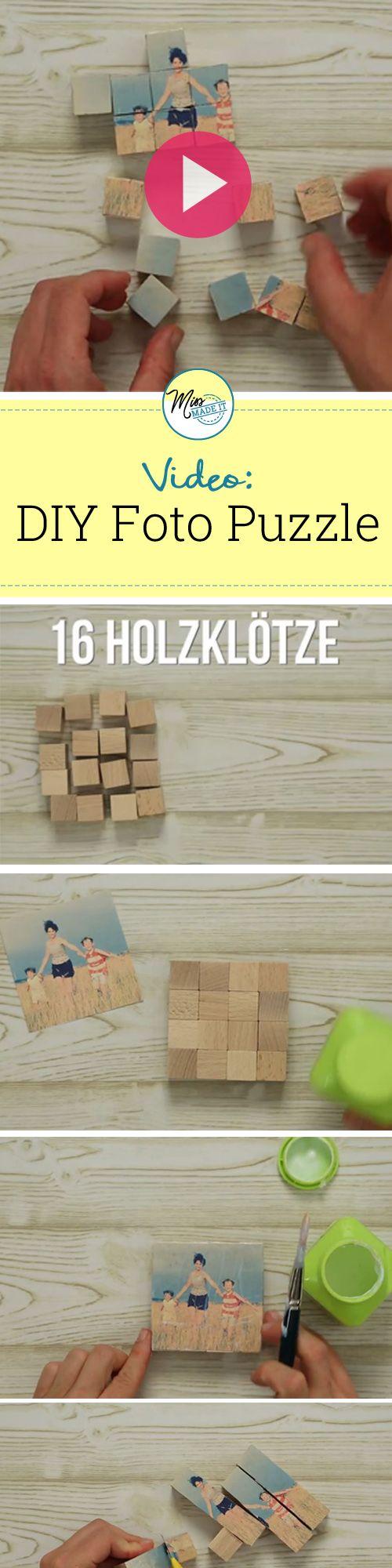 DIY Puzzle, Puzzle selber machen - Wir zeigen dir wie du ganz einfach ein Foto Puzzle basteln kannst, Basteln mit Fotos, Fotoideen, Bastelideen Fotos