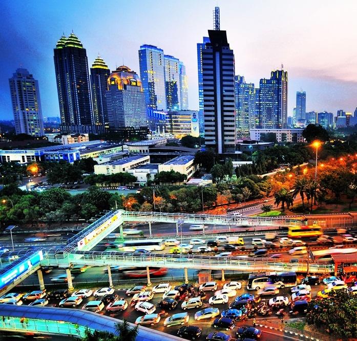 Cityscape of Jakarta from Semanggi Plaza