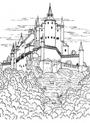 37 best Castles coloring book images on Pinterest | Coloring pages ...