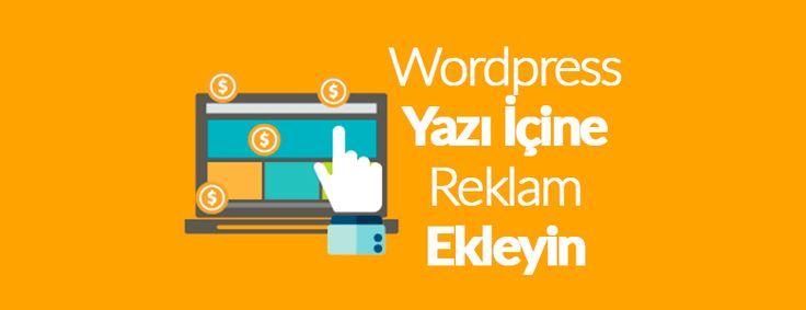 Wordpress web sitenize adsense reklam eklemek için yeni bir reklam alanı oluşturabilir veya ortasına, yazı içine reklam ekleyebilirsin.