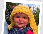 Cabbage Patch Doll Hat - Crochet Cabbage Patch Hat - Cabbage Patch Hair - Cabbage Patch Wig - Cabbage Patch Doll Crochet Hat - Cabbage Patch - pinned by pin4etsy.com