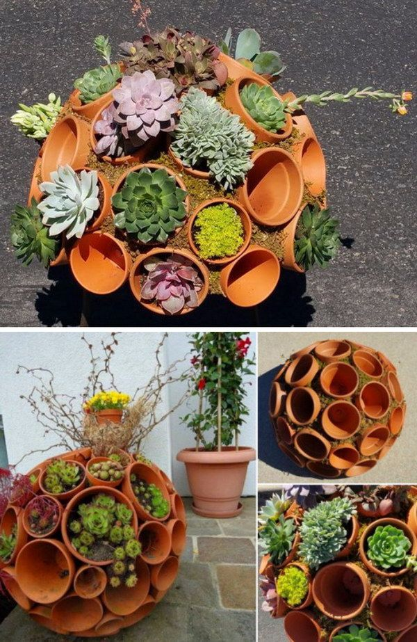 DIY Clay Pot Sphere for Stunning Succulents.