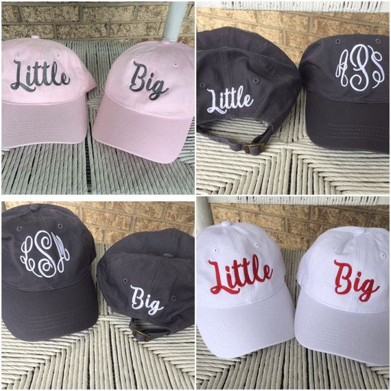 These super cute Sorority hats are high quality brushed twill in a rainbow of colors. Each hat has the sorority on the back. Great for yourself or for a gift. This is for one hat. At checkout let us know if you want Big or Little and your sorority and thread color choice in the note section.