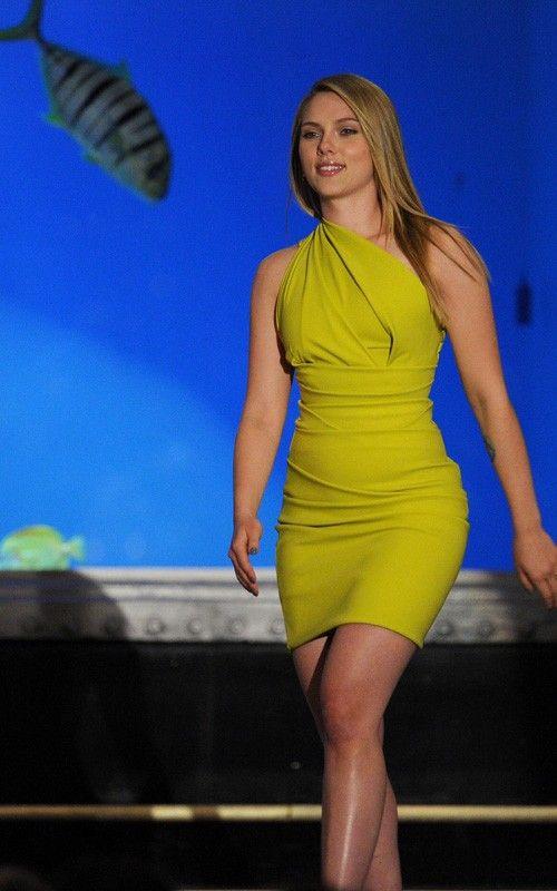 Image result for scarlett johansson yellow dress