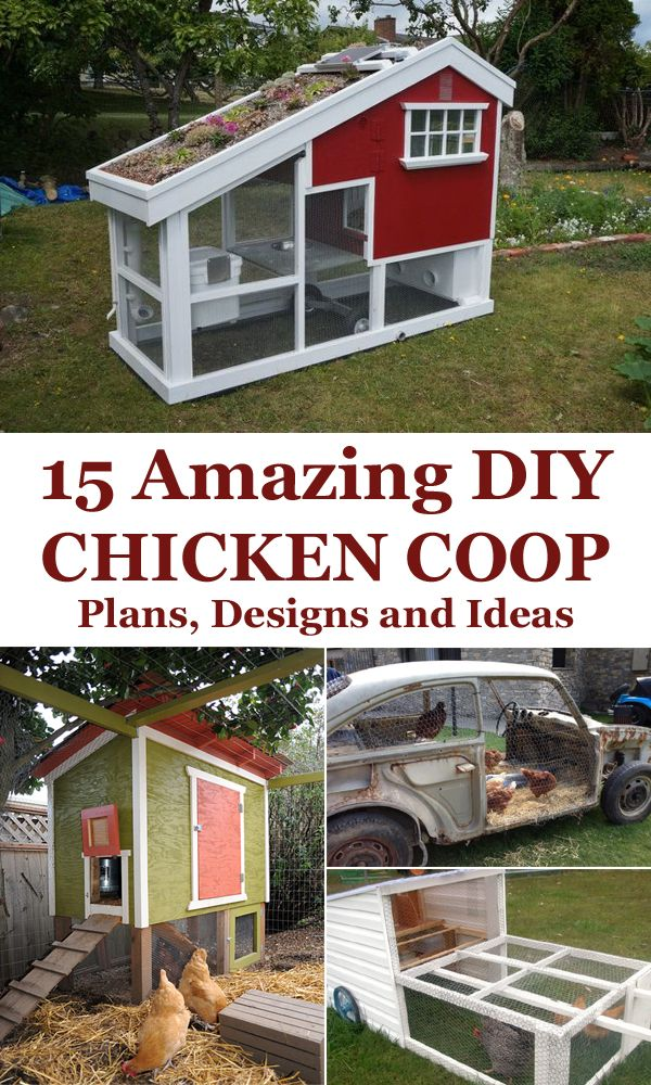 152 best images about chicken coops on pinterest chicken for Chicken coop ideas