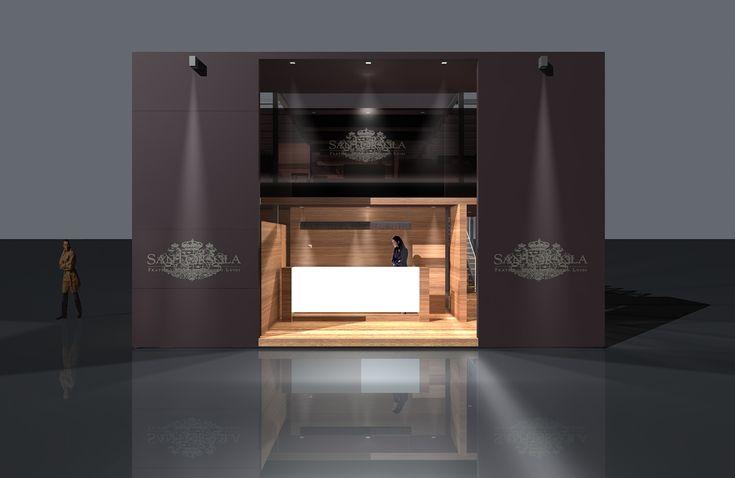 Exhibition Stand for an Italian Wine distributor, developed for Vinitaly, Verona. Not built.Credits:Project: Diego Bortolato Architetto con Gianluca Re ArchitettoTime Line:2008