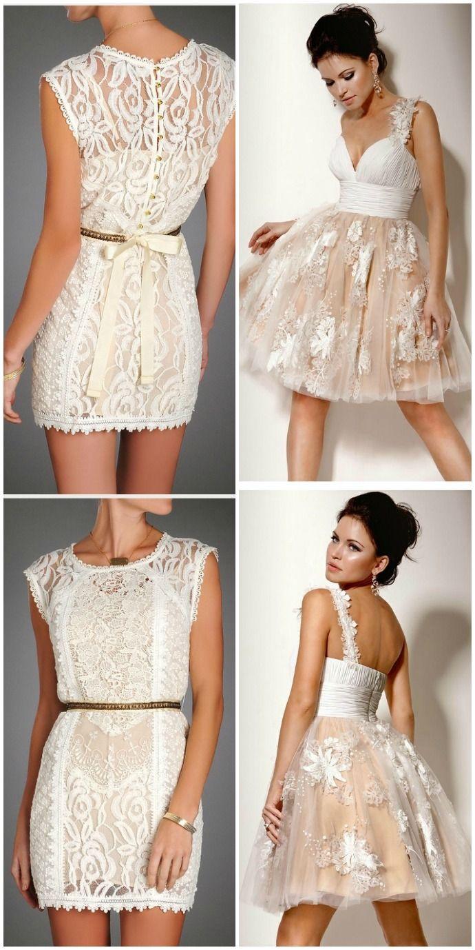 Encantadores vestidos de novia cortos