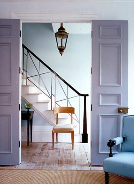 A marvelous palette of lavender and soft blues by one of the color masters: Steven Gambrel.