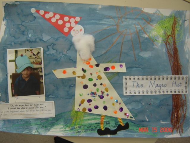 The Magic Hat by Mem Fox - chn wear the hat in the photo and told me what they would like to turn into