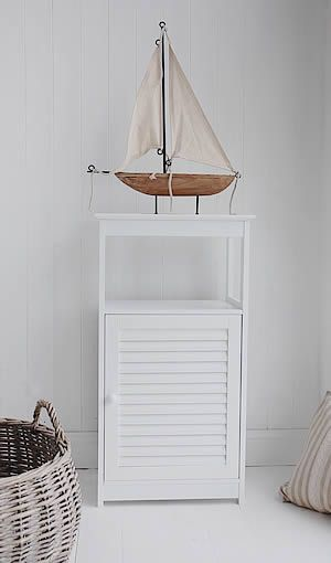 White Freestanding bathroom Furniture from The White Lighthouse