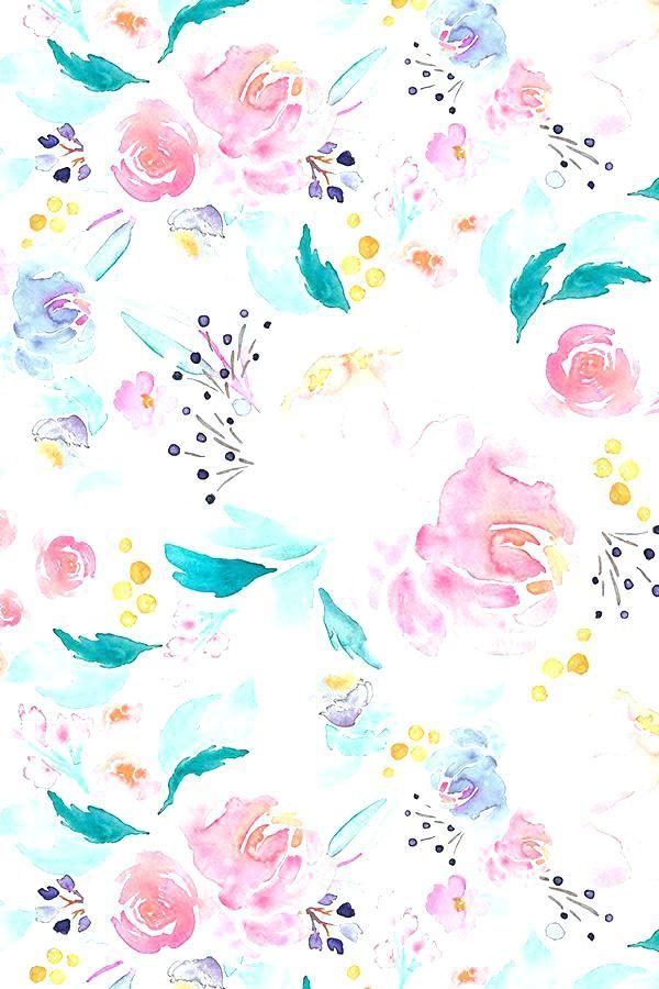 Aesthetic Iphone Pastel Floral Wallpaper Hd In 2020 Watercolor Floral Wallpaper Watercolor Wallpaper Pastel Wallpaper