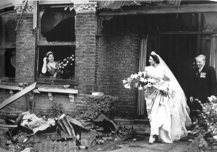 London wedding during the WWII Blitz.