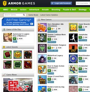10 Best Places to Play Free Games Online (Without Spam or Viruses): Armor Games