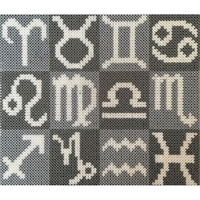 Zodiac signs hama/nabbi beads by Pärlor, Pärltavlor & Pyssel - Pattern: https://de.pinterest.com/pin/374291419002751966/