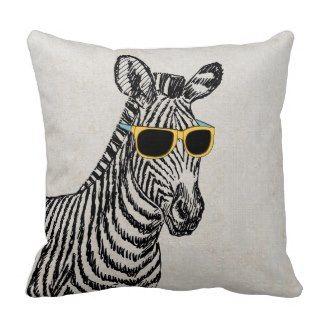 Coole niedliche lustige Zebraskizzen #Dekokissen #Kissen #Zierkissen #DekokissenART