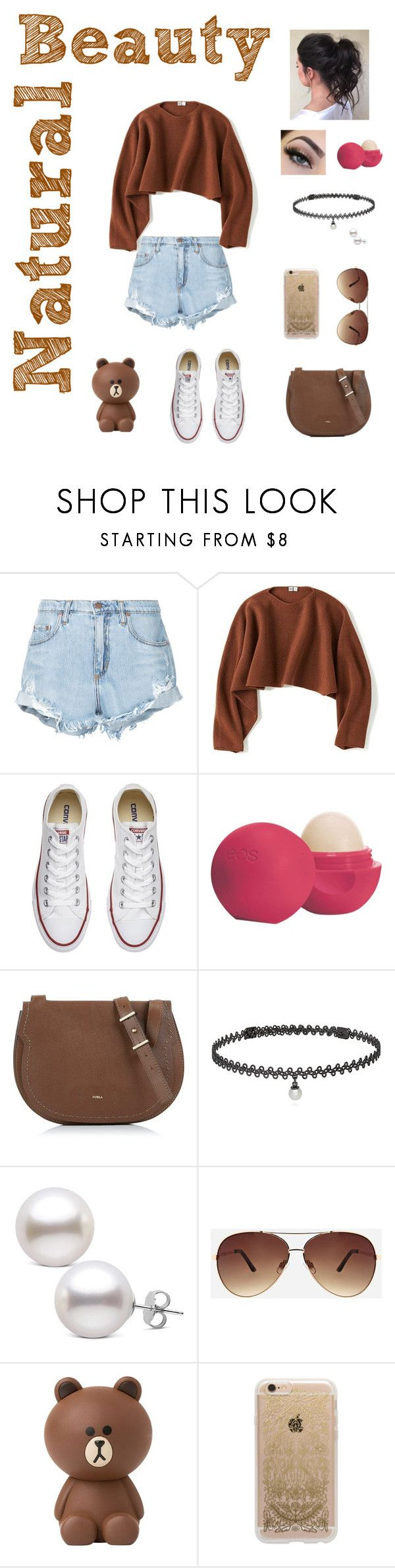 """""""Bear-y Good"""" by beauty55 ❤ liked on Polyvore featuring Nobody Denim, Uniqlo, Converse, Eos, Furla, BERRICLE, Ashley Stewart and Rifle Paper Co"""