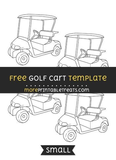 free golf cart template small shapes and templates printables