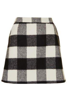 Brush Gingham Aline Skirt