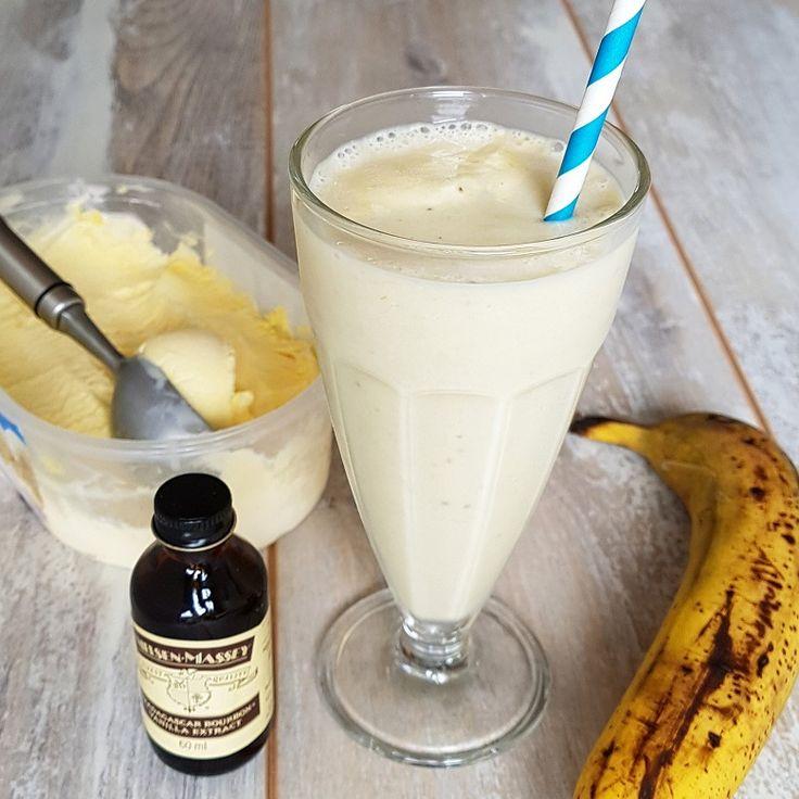 Milkshake met banaan en vanille, verslavend lekker!