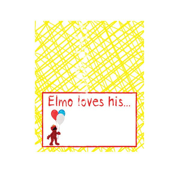 This listing is for BLANK Elmo food tent signs. There are 2 signs per sheet, & you can print as many sheets as you want. Then you just hand write in your food item. These are fold over tent style signs, so they will stand up on your tables. The size, when folded is 5 wide x 3 tall. I