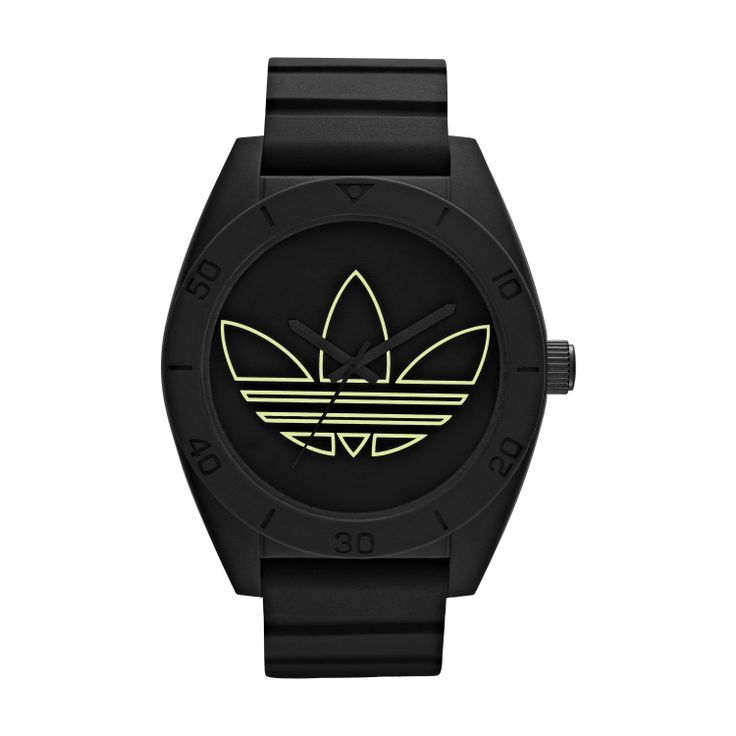 #AdiGlow makes its collection debut this season, and signature Santiago XL shines with this luminescent trefoil.  R1699.00  http://www.watchrepublic.co.za/brand/adidas/men/adidas-santiago-watch-1