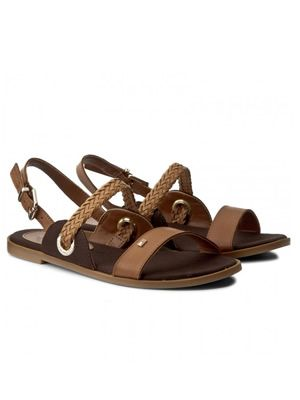 Sandale dama tommy hilfiger fara toc din piele