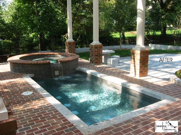 27 best courtyard pools images on pinterest courtyard for Courtyard designs with spa