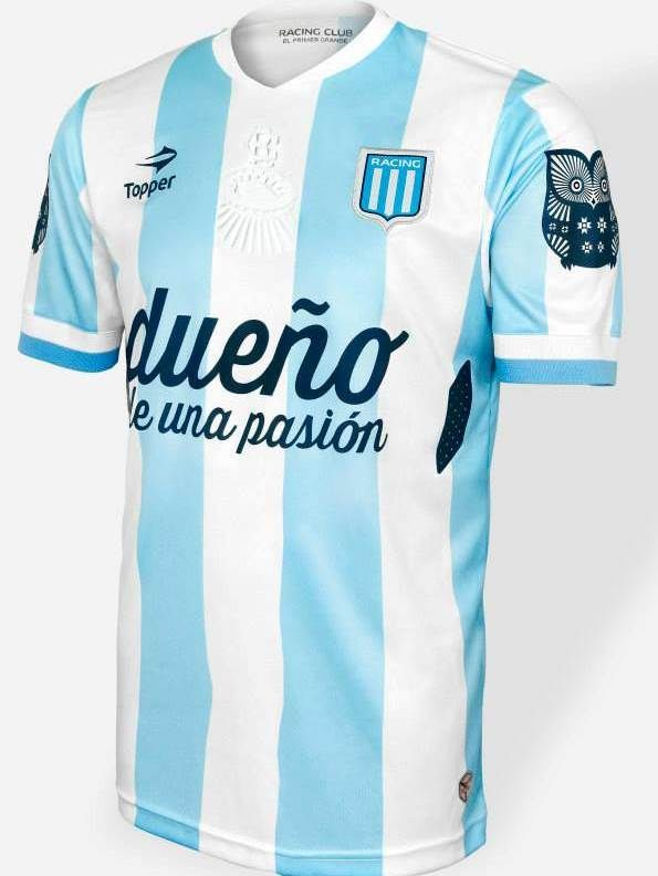Racing Club de Avellaneda Home Topper Soccer Jerseys 2014