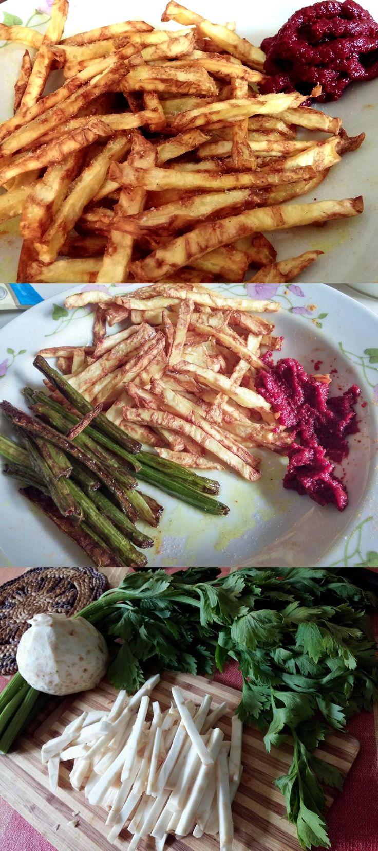 Sültkrumpli zellerből ~ paleo hasábburgonya