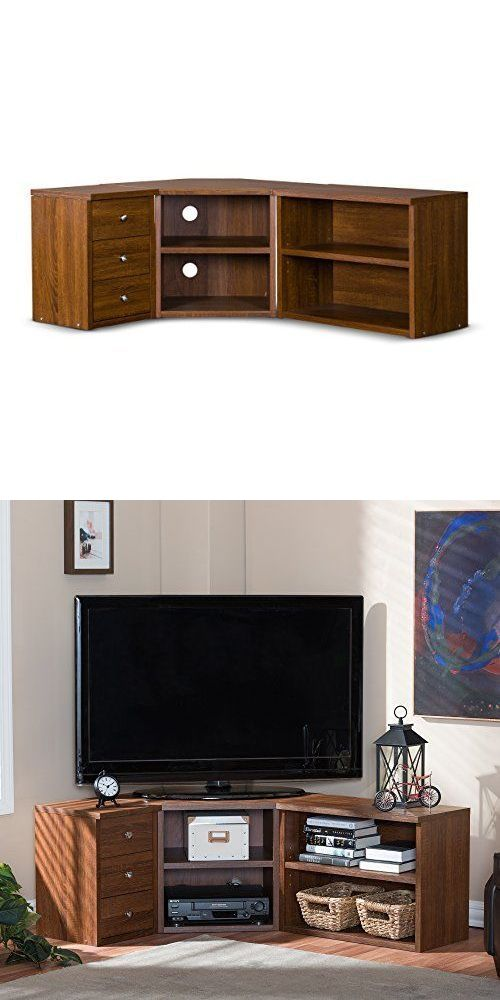 Entertainment Units TV Stands: Corner Tv Stand Flat Screen Home Entertainment Center Media Console Cabinet Wood -> BUY IT NOW ONLY: $248.92 on eBay!