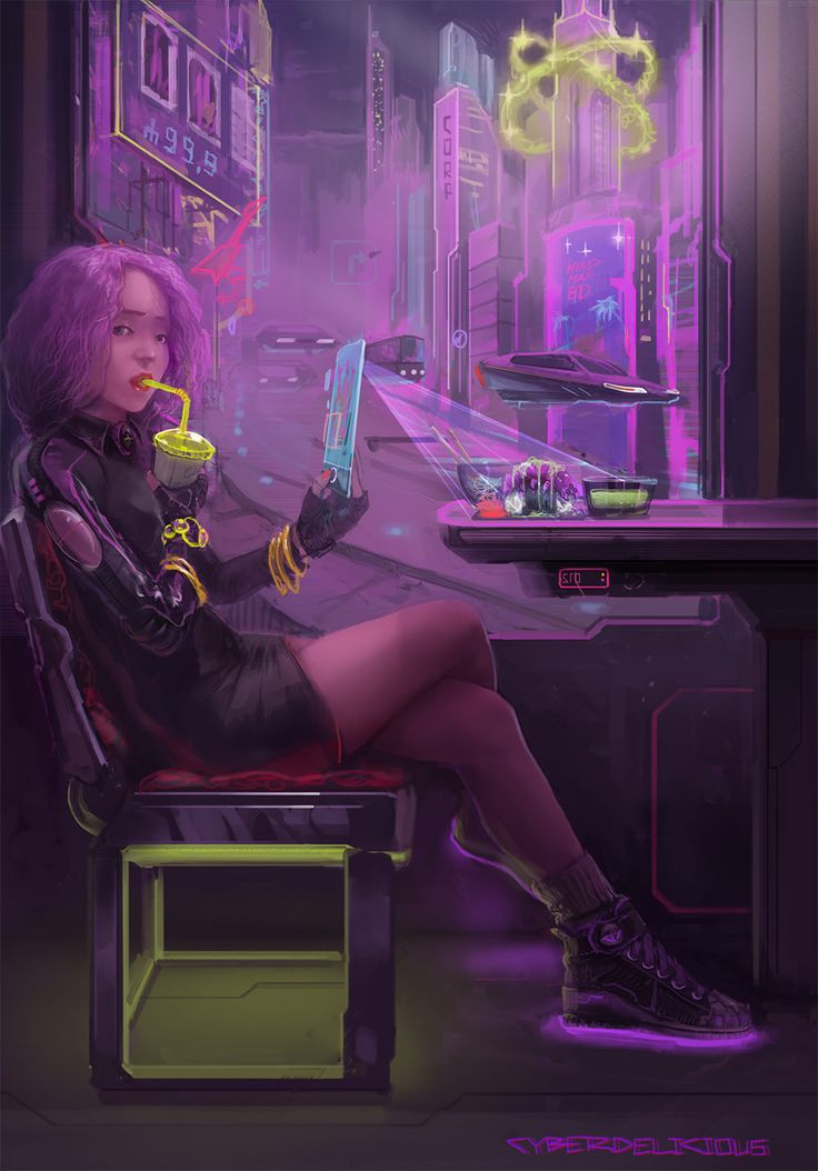Cyber Cafe, Cyber Delicious on ArtStation at http://www.artstation.com/artwork/cyber-cafe