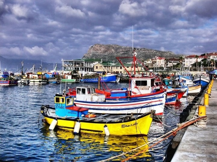Fishing boats in Hout Bay, South Africa