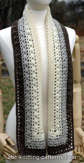 Snowy noite Bobble Scarf, #crochet, padrão livre #hooks, padrão livre (Engel ...