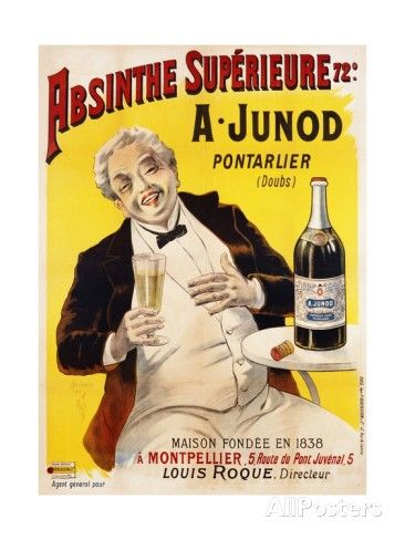 Absinthe Superieure Beverage Poster Giclee Print at AllPosters.com