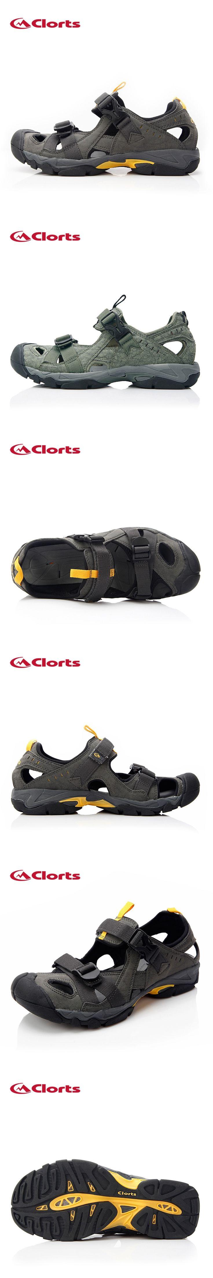 Clorts Aqua Shoes Men Summer Beach Shoes PU Water Sandals Mens Water Shoes SD-206C/D
