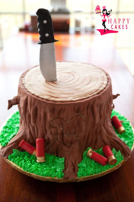 Tree Stump Hunting Cakes Pinterest Tree Stump Cake