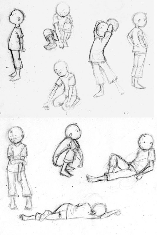 Just some sketches I've made at school, today, for a little animation. I think some positions are quite good, so, I like them^^