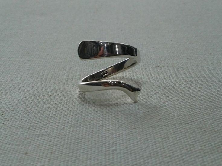 Silver Ring, mermaid ring, thumb ring, Handmade Sterling Silver, Wire Silver Ring, 925 Sterling Silver,Simple rings. by MoyokSilver on Etsy