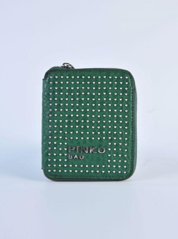PINKO - Portafogli verde con borchiette   Di Pierro  http://www.dipierrobrandstore.it/product/2027/Portafogli-verde-con-borchiette.html