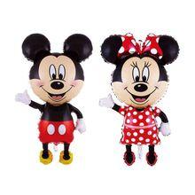 112 cm Mickey Minnie Globo Gigante, Foil Fiesta de Cumpleaños de Globos Airwalker Globo de dibujos animados para Niños Bebé Juguetes Del Partido Decorar(China (Mainland))
