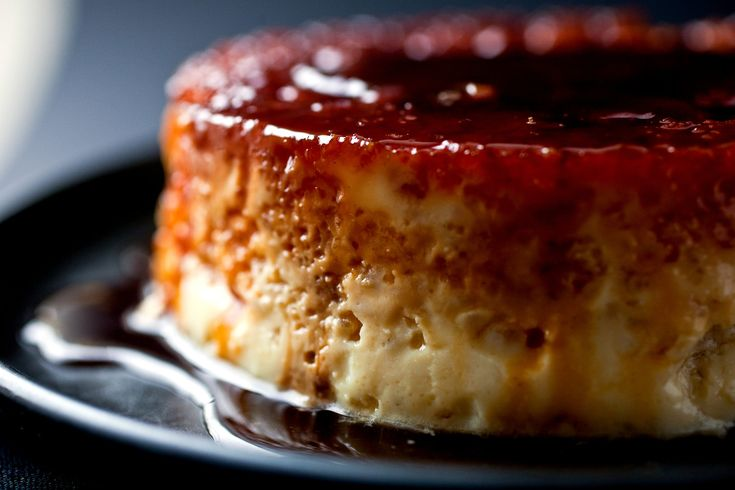 Catalonia caramel rice flan.  In Catalonia, many of the rice dishes are made with short grain rice The pillowy texture of the short grains reminds me of tapioca, with a grainier bite Short grain rice is also starchier than long grain, which helps the eggs bind the custard