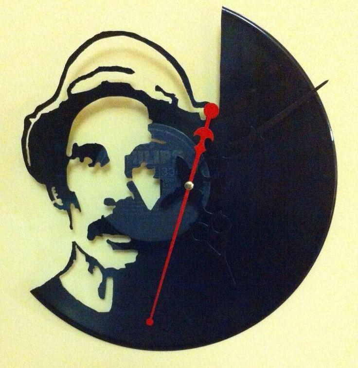 Ron damon reloj de pared en disco de vinilo hecho a mano - Reloj vinilo pared ...