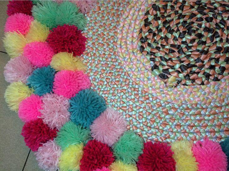 Hermosa alfombra circular hecha a mano tedioso - Alfombras hechas a mano con lana ...