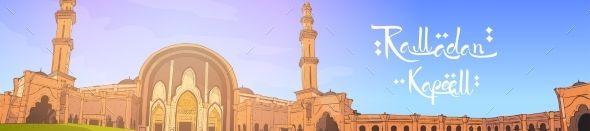 Mosque Building Ramadan Kareem Muslim Religion