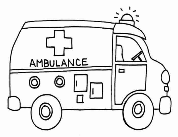 Large Coloring Pages Of An Ambulance Transportation For Kids Monster Truck Coloring Pages Ambulance