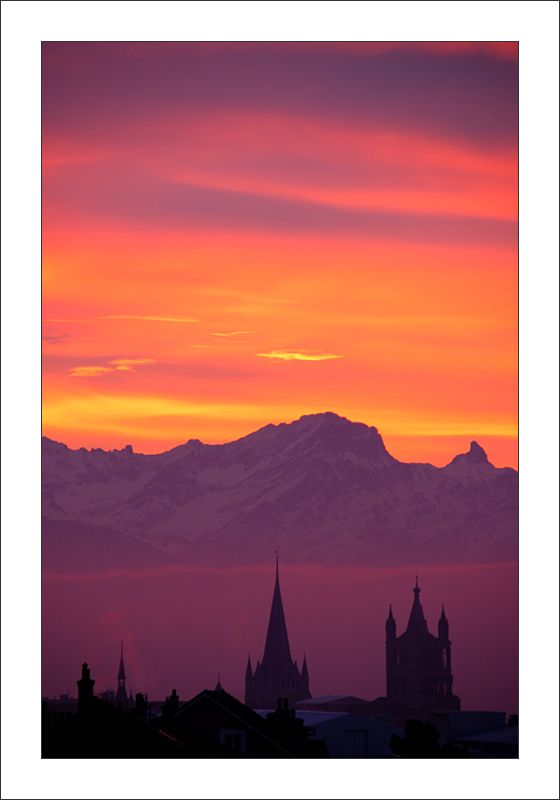 Sunrise, Lausanne, Switzerland Copyright: Nikki Francis